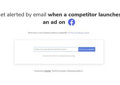 New Tool Provides Email Alerts Whenever Your Competitors Launch a Facebook Ad Campaign