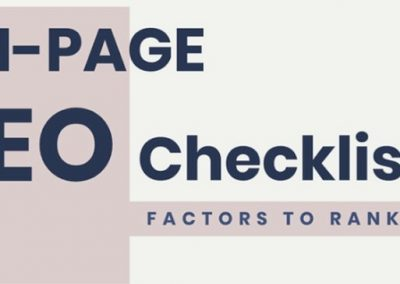 On Page SEO: The Key Considerations for Ranking Higher on Google [Infographic]