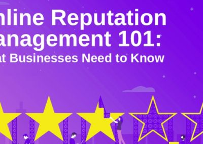 Online Reputation Management 101: What Businesses Need to Know [Infographic]