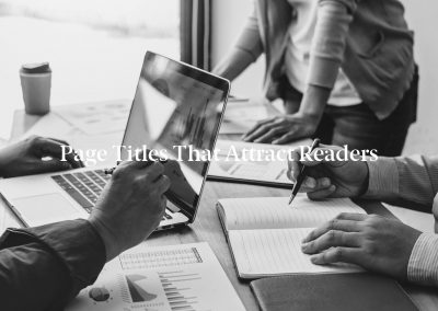 Page Titles That Attract Readers