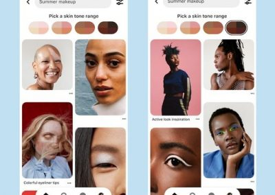 Pinterest Makes Skin Tone Search Qualifiers Available in More Regions, Expands AR Try-On Program