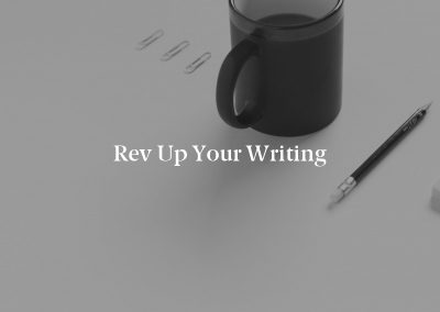 Rev Up Your Writing