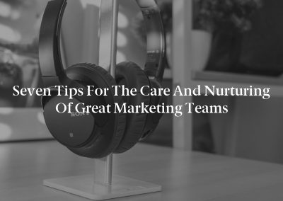 Seven Tips for the Care and Nurturing of Great Marketing Teams