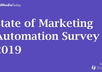 SMT's State of Marketing Automation Survey 2019 – Part 4: Future of Automation