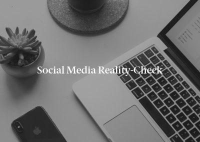 Social Media Reality-Check
