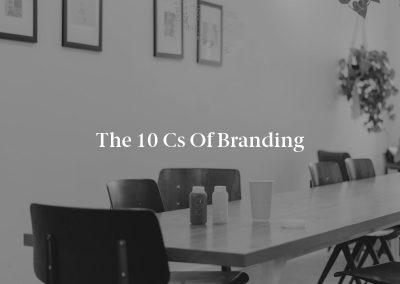 The 10 Cs of Branding