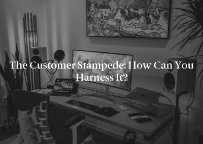 The Customer Stampede: How Can You Harness It?