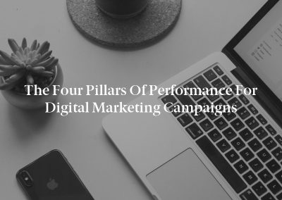 The Four Pillars of Performance for Digital Marketing Campaigns