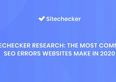The Most Common Website Mistakes Affecting Your SEO in 2020 [Infographic]