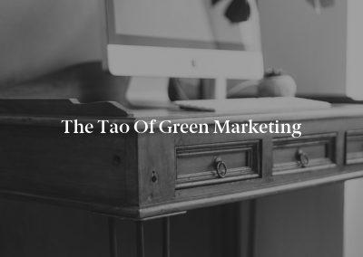 The Tao of Green Marketing