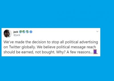 Twitter Bans All Political Ads in Response to Concerns Around Misinformation