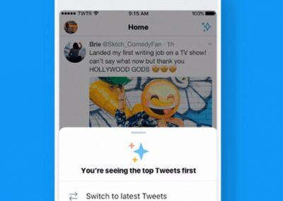 Twitter Launches Test of New Button to Switch Between Chronological and Algorithmic Timeline