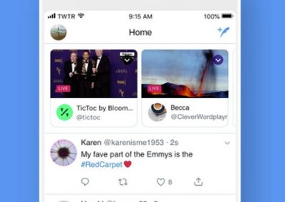 Twitter Will Now Highlight Live-Streams from Accounts You Follow at the Top of Your Timeline