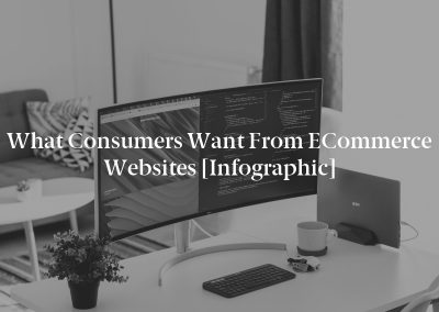 What Consumers Want from eCommerce Websites [Infographic]