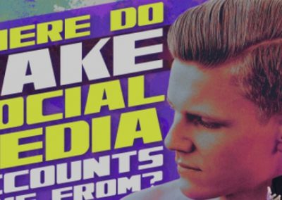 Where Do Fake Social Media Profiles Come From? [Infographic]