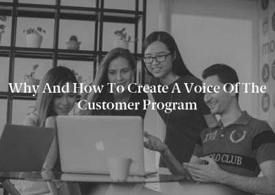 Why and How to Create a Voice of the Customer Program