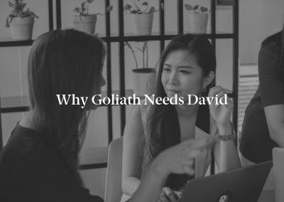 Why Goliath Needs David