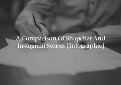 A Comparison of Snapchat and Instagram Stories [Infographic]