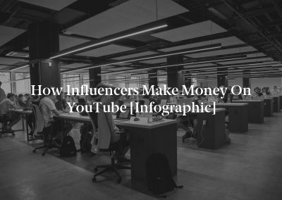 How Influencers Make Money on YouTube [Infographic]