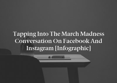 Tapping into the March Madness Conversation on Facebook and Instagram [Infographic]