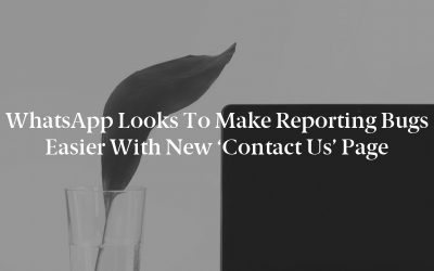 WhatsApp looks to make reporting bugs easier with new 'Contact Us' page